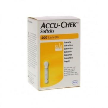 Accu Chek softclix lancetten 200 stuks