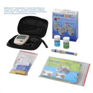 multicheck startpakket cholesterol en glucosemeter in 1