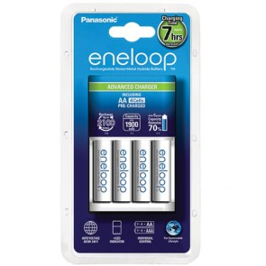 Panasonic oplaadbare batterijen set (lader + batterijen)